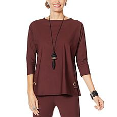 MarlaWynne Stretch Tech Boxy Top