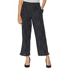 MarlaWynne Striated Stripe Linen Pant