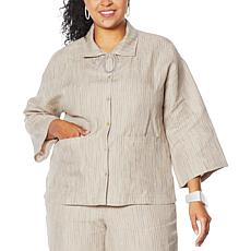 MarlaWynne Striped Linen Box Shirt