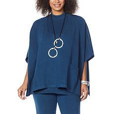 MarlaWynne Sweater Knit Poncho Cardigan