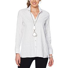 MarlaWynne Textured Butterfly Button Down Shirt