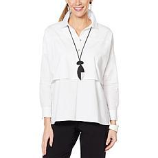 MarlaWynne Tiered Poplin Shirt