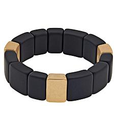 MarlaWynne Two-Tone Cube Stretch Bracelet