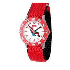 Marvel Spider-Man Kid's Time-Teacher Watch with Rotating Bezel - Red