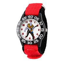 Marvel Thanos Kid's Time-Teacher Watch with Black and Red Strap