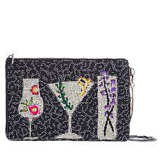 Mary Frances Beaded Handmade After Hours Pouch/Crossbody