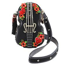 Mary Frances Handcrafted Violin Beaded Handbag