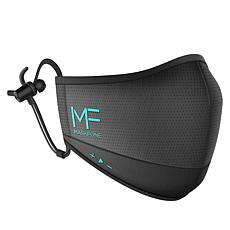 MaskFone 2-Layer Reusable Face Covering with Built-in Earbuds