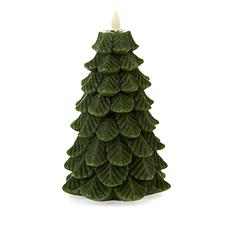 Matchless Moving Flame Christmas Tree Candle with Remote and Timer