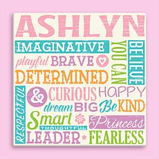 MBM All About Her Personalized 12x12 Canvas