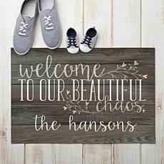 MBM Beautiful Chaos Personalized Gray Doormat
