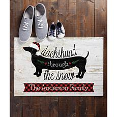 MBM Dachshund Through the Snow Personalized Doormat