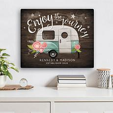 MBM Enjoy The Journey Personalized 16x20 Canvas