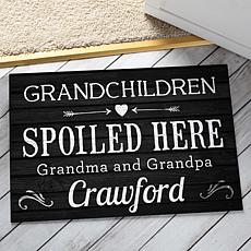 MBM Grandchildren Spoiled Here Black Personalized Doormat
