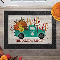 MBM Hello Fall Pickup Truck Personalized Doormat