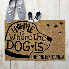 MBM Home Is Where The Dog Is Personalized Doormat