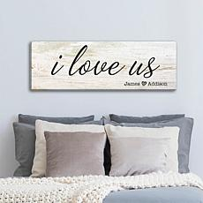 MBM I Love Us Personalized Canvas 9x27