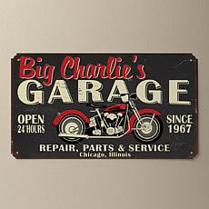 MBM My Garage Personalized Tin Sign - Black