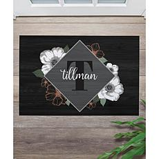 MBM Name and Initial Floral Doormat
