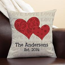MBM Red Hearts Personalized Pillow
