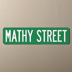 MBM You Name It Personalized Street Sign - Green and White