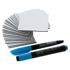 mc Squares Reusable Dry Erase Stickies 24-pack with 2 Markers