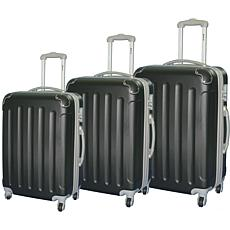 McBrine 3-piece Hard-sided ABS Luggage Set