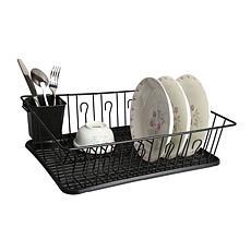 Mega Chef Black Dish Rack