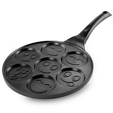 MegaChef Happy Face Emoji 10.5 Inch  Aluminum Nonstick Pancake Make...