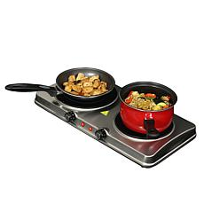 MegaChef Portable Dual Vitro-Ceramic Infrared Cooktop