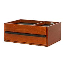 Mele & Co. Darien Men's Wooden Dresser Top Valet - Walnut Finish