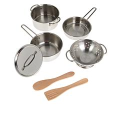 Melissa & Doug Stainless Steel Pots and Pans Play Set