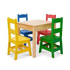 Melissa & Doug Table and 4 Chairs - Primary Colors