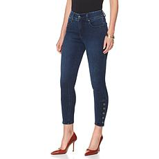 Melissa McCarthy Seven7 Button Pencil Jean - Missy