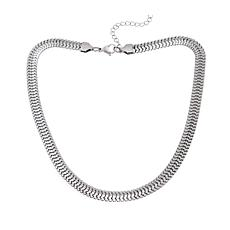 "Men's Stainless Steel Flex Chain 18-1/4"" Necklace"