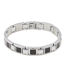 Men's Stainless Steel, Tungsten & Carbon Fiber Bracelet