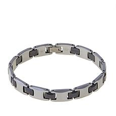 "Men's Tungsten and Ceramic Link 8-1/2"" Bracelet"