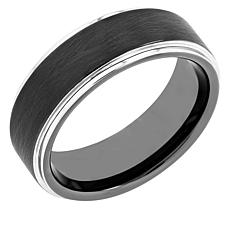 Men's Tungsten Gunmetal-Tone 8MM Wedding Band
