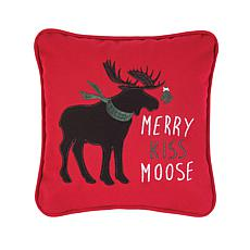 Merry Kiss Moose Pillow