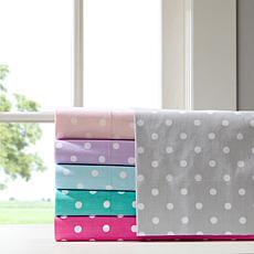 Mi Zone Polka Dot Cotton Sheet Set - Purple - Twin