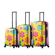 Mia Toro Italy Pop Fiore Hardside 3pc Spinner Luggage