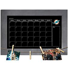 Miami Dolphins Monthly Chalkboard with frame & clothespins 11x19 Sign