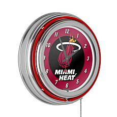 Miami Heat Double Ring Neon Clock