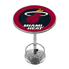 Miami Heat NBA Chrome Pub Table