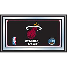 Miami Heat NBA Framed Logo Mirror