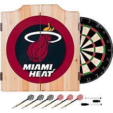Miami Heat NBA Wood Dart Cabinet Set