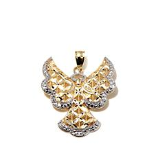 "Michael Anthony Jewelry® 10K 2-Tone ""Angel"" Pendant"