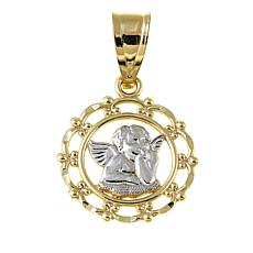 Michael Anthony Jewelry® 10K 2-Tone Cherub Pendant