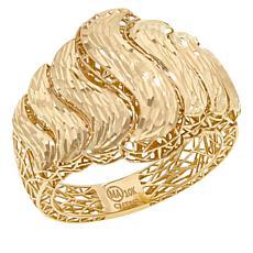 "Michael Anthony Jewelry® 10K Diamond-Cut ""S"" Band Ring"