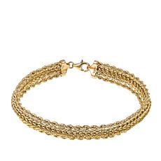 "Michael Anthony Jewelry® 10K Domed Rope Chain 7-1/2"" Bracelet"